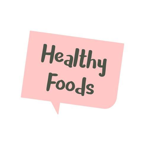 Fumetto illustrazione di salute alimentare grafica