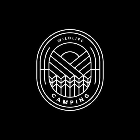 Plantilla de insignia de logotipo de aventura al aire libre