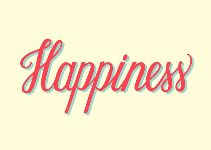 Tipografia stile Happiness scritto a mano