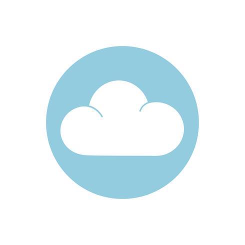 Appanni il segno sull'illustrazione grafica del cerchio blu