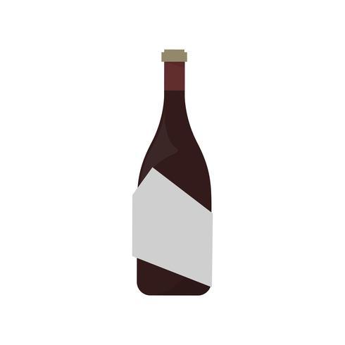 Fles rode wijn grafische illustratie