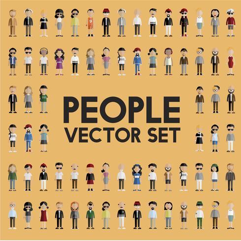 Illustratie van diverse mensen