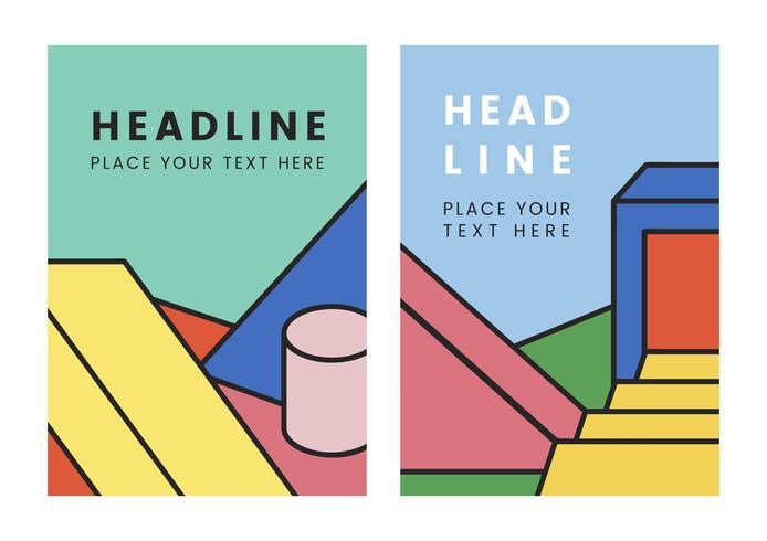 Design grafico colorato mockup titolo