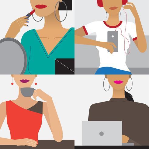 Charakterabbildung des Frauenlebensstils