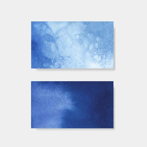 Vecteur de bannière de style aquarelle bleu