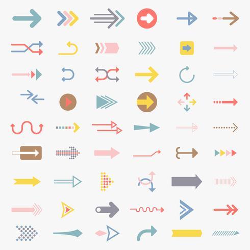 Colección de signos de flecha ilustrados