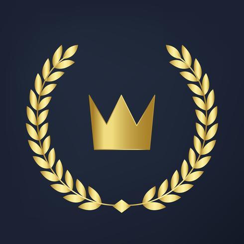 Vecteur d'icône couronne qualité premium