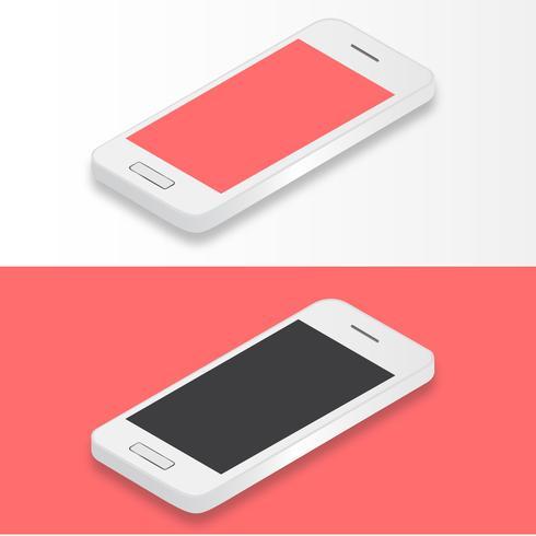 Ilustração, de, móvel, telefone, isolado