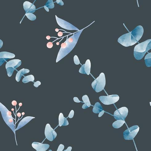 Aquarell verlässt grafisches Musterdesign