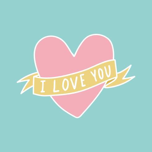 Te amo corazon vector