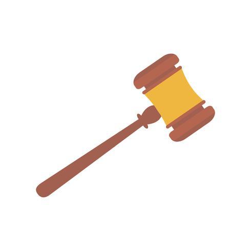 Martelo do juiz isolado ilustração gráfica