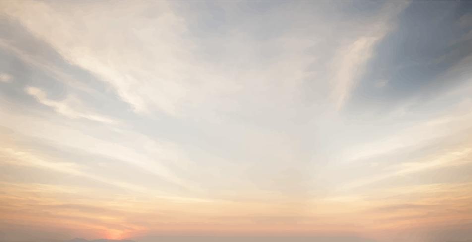 Fondo de pantalla de puesta de sol y cielo azul nublado