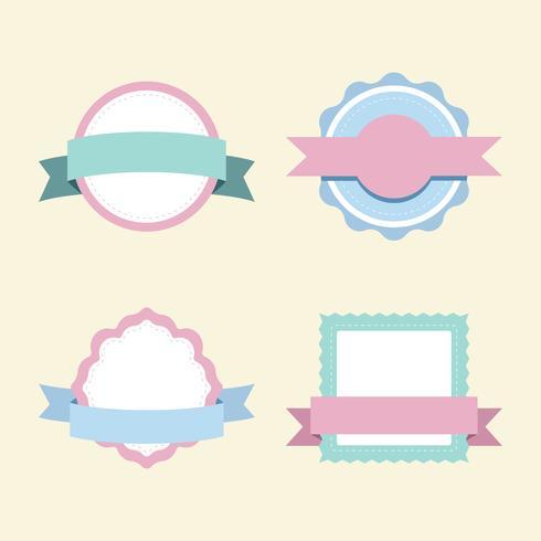 Conjunto de vectores de diseño de placa pastel