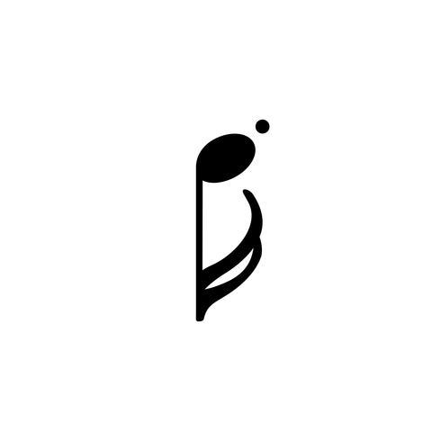 Illustratie van een muzieknoot