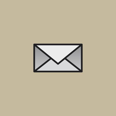 Ilustração de ícone de carta de mensagem de correio