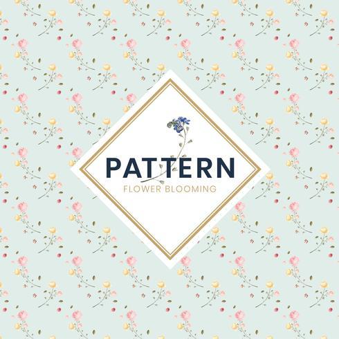 Dibujado a mano colorido patrón floral ilustración