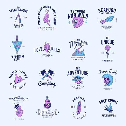 Set van vintage badges ontwerp vector