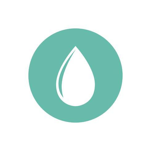 Wassertropfen auf grüner Kreisgraphikillustration