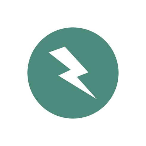 Green electric current sign graphic illustration