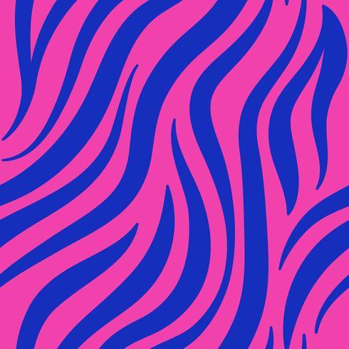 Vector de patrón de impresión de cebra rosa y azul