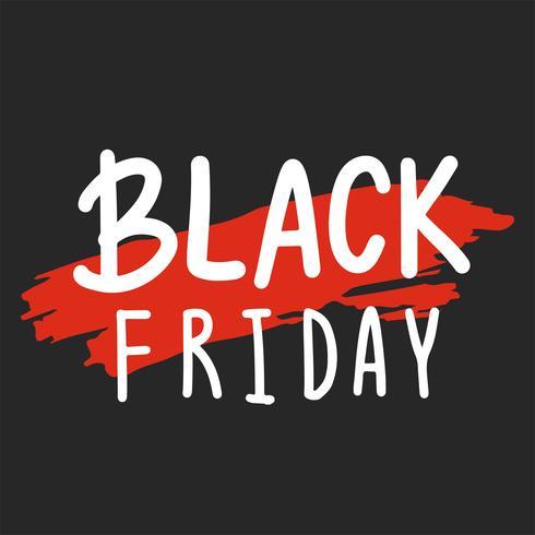 Vector de tipografía de viernes negro en blanco