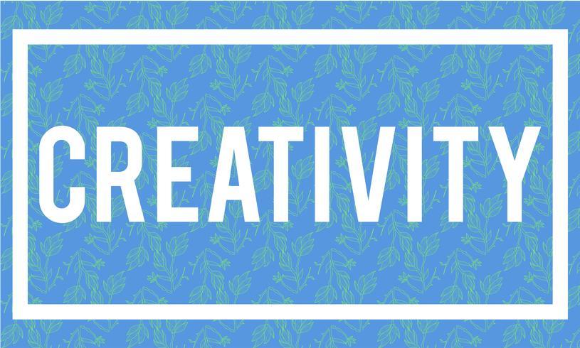 Abbildung des Kreativitätswortes auf blauem Hintergrund