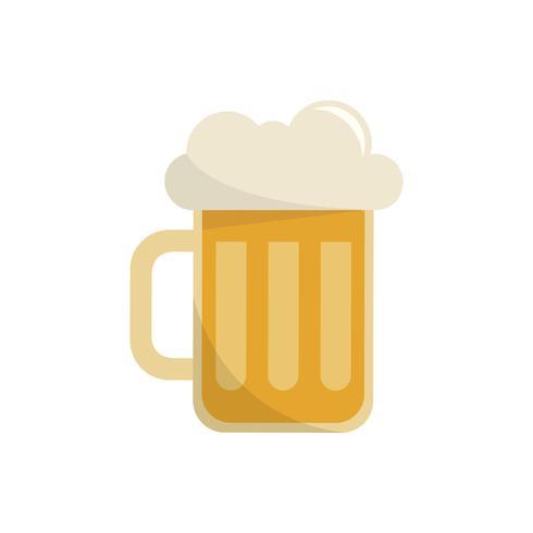 Illustration graphique isolé de chope de bière
