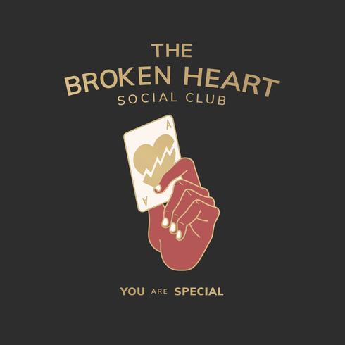 Die Clubillustration des gebrochenen Herzens