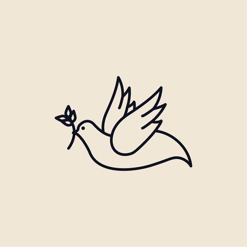 Ilustração de uma pomba da paz