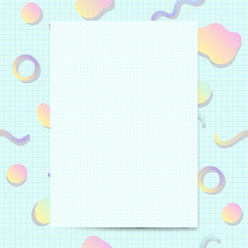 Girly pastel kaartmodel vector