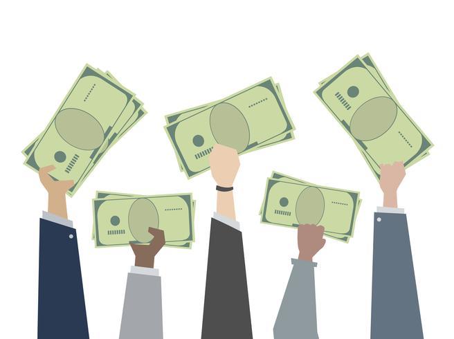 Geschäftsgeld und Bargeld