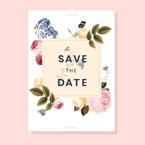Spara datum bröllopsinbjudan