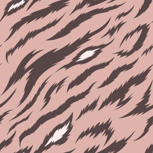 Patrón de vector transparente de rayas de tigre