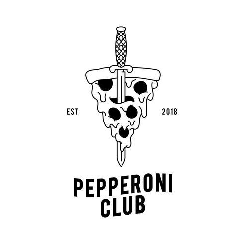 Pepperoni-Pizza-Designvektor