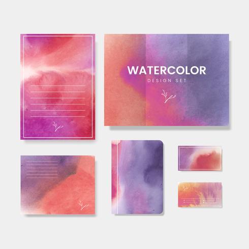 Gradient watercolor design