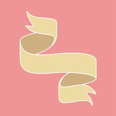 Gele lintbanner doodle stijl vector
