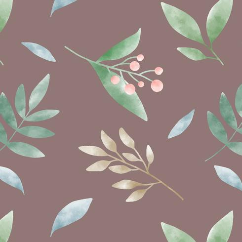 Aquarel groen blad patronen vector