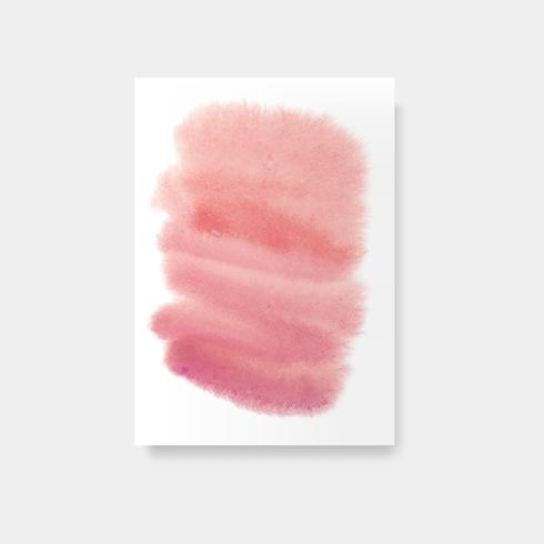 Red watercolor style card vector