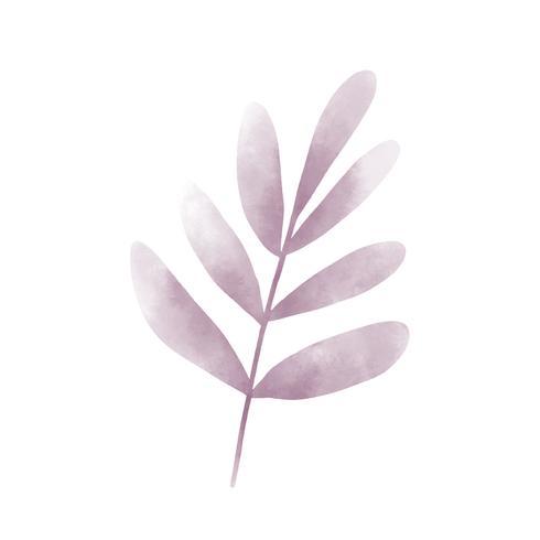 Waterverf grafisch van bladerenontwerp