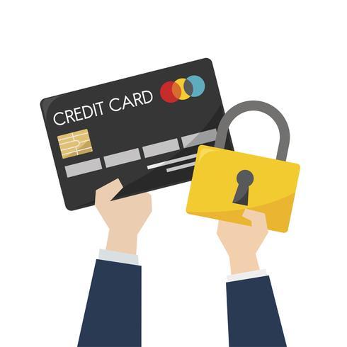 Illustrazione della sicurezza della carta di credito