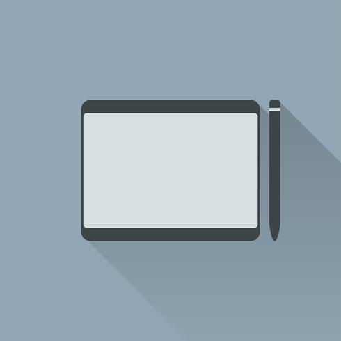 Illustratie van grafisch ontwerper pentablet
