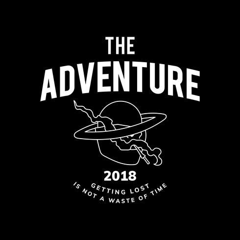 Vintage il vettore di design del testo di avventura