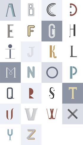 De Engelse alfabet typografie illustratie