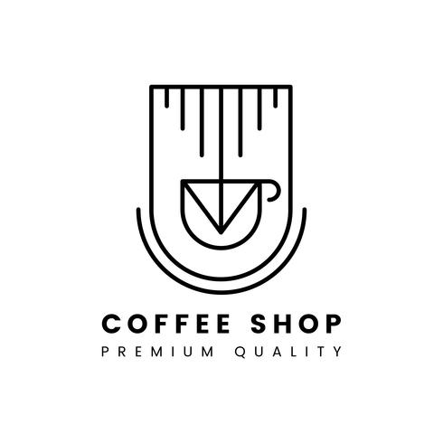Premium kvalitet kaffebutik logo vektor