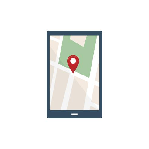 Navigation screen touchpad graphic illustration
