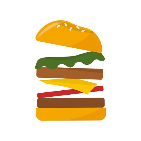 Big hamburger icon graphic illustration