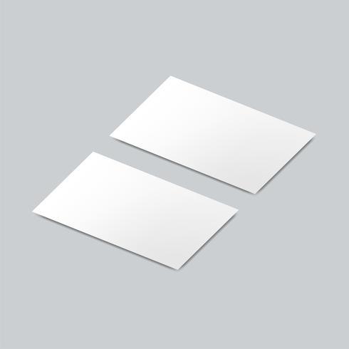 Business card design mockup vector