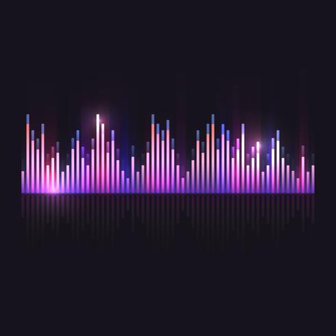 Colorful sound wave equalizer vector design