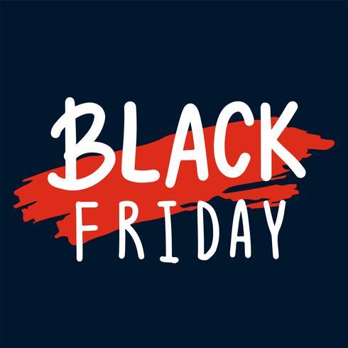Vettore di tipografia di Black Friday nel bianco