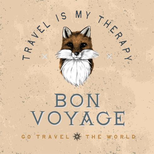 Bon voyage logo design vecteur